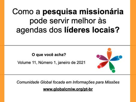 Como a pesquisa missionária pode servir melhor às agendas dos líderes locais?