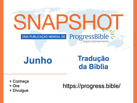 Tradução da Bíblia - Dados JUNHO