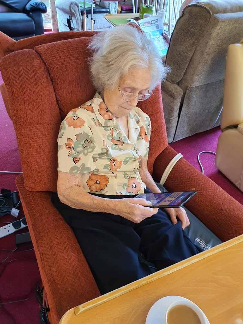 Copy of Oakcroft resident using tablet 6