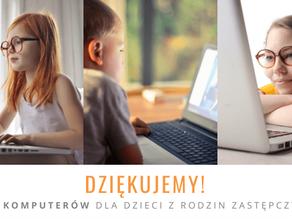 Z CAŁEGO SERCA DZIĘKUJEMY! ❤️ Za 118 komputerów dla dzieci z rodzin zastępczych