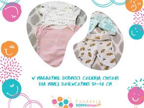 Ciuszki dla Małej Dziewczynki, malutkiej jak okruszek: 56-62 cm w Magazynie Dobroci
