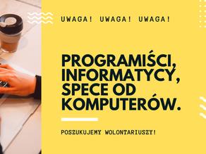 UWAGA! UWAGA! Poszukujemy programistów, informatyków i speców od komputerów 👨💻👩💻