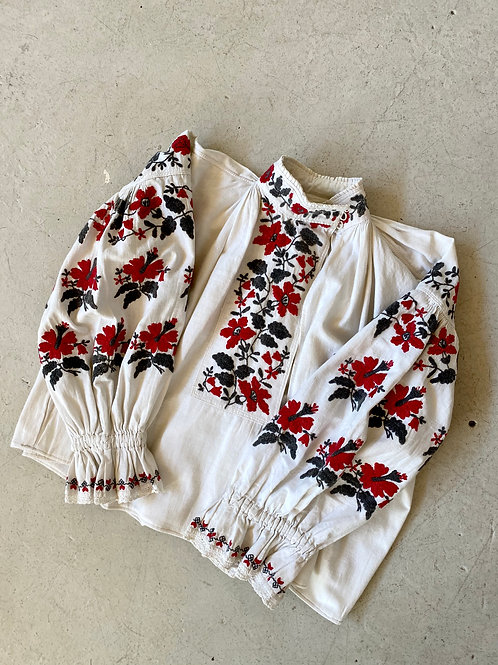 antique cotton embroidered blouse