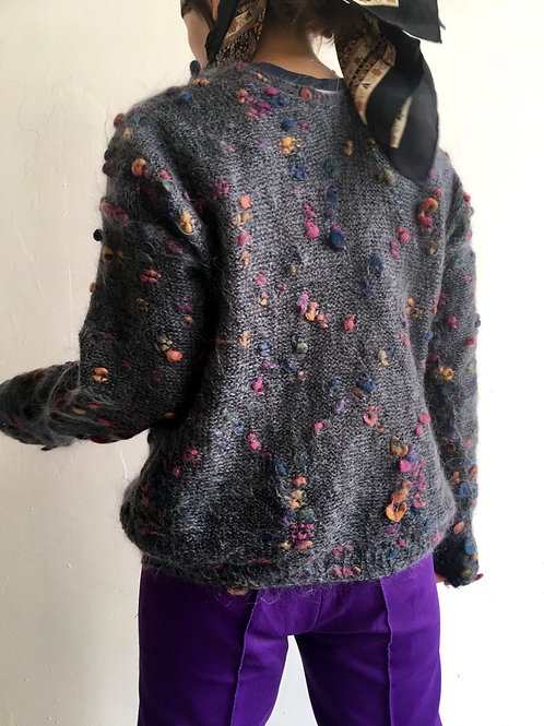 vintage grey mohair jumper