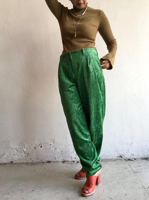 80s green velvet corduroy pant