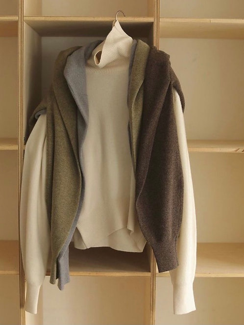 cashmere wool turtle neck knit