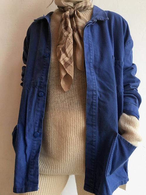 vintage french work wear jacket