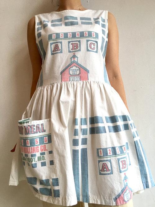 hand made cornmeal sack dress