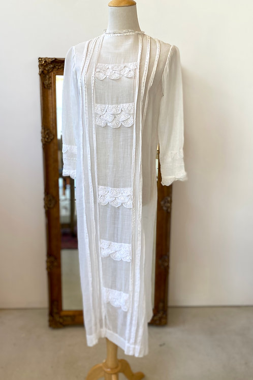 1910s-20s antique gauze dress