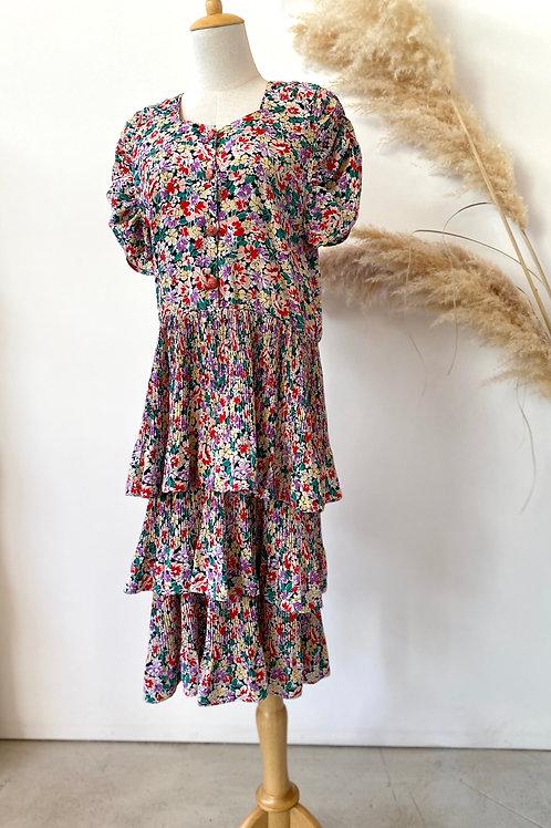 80s tiered dress
