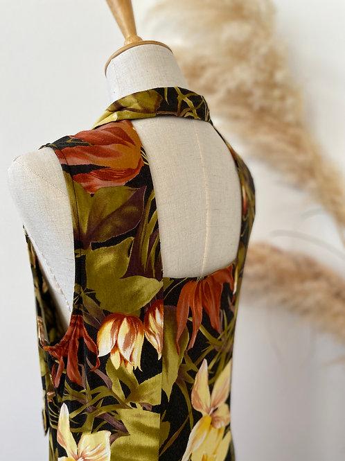 90s open back design dress