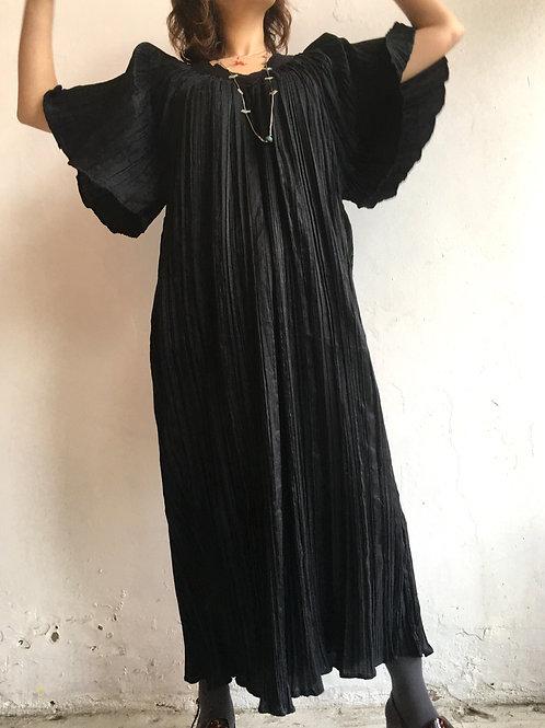 black accordion dress
