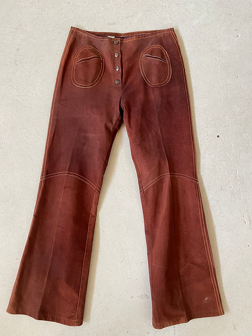 bell bottom leather pants