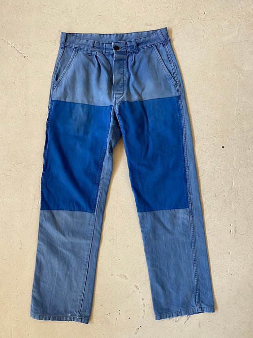 distressed patched work wear pants