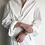 Thumbnail: wrap style cotton shirt long dress