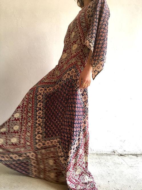 caftan style indian cotton maxi dress