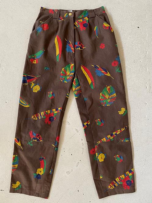 LEONARD sport print pants