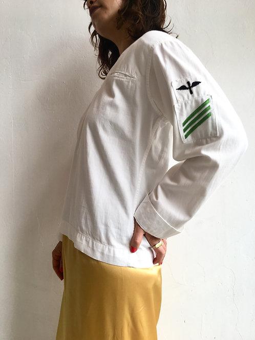 white cotton sailor collar top