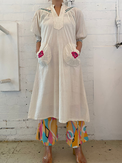 Embroidered cotton summer dress