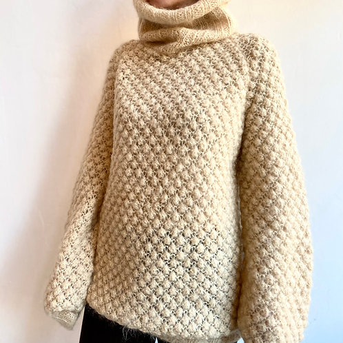 mohair and wool turtle neck sweater
