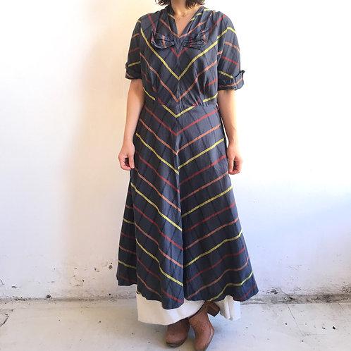 50s stripe bowtie dress