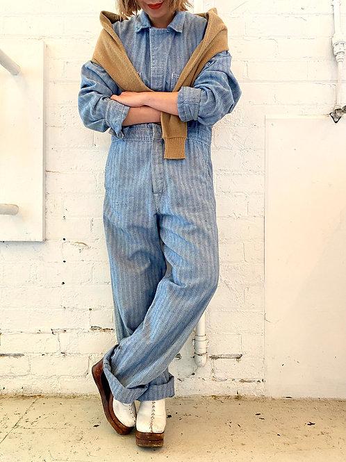 vintage herringbone jumpsuit