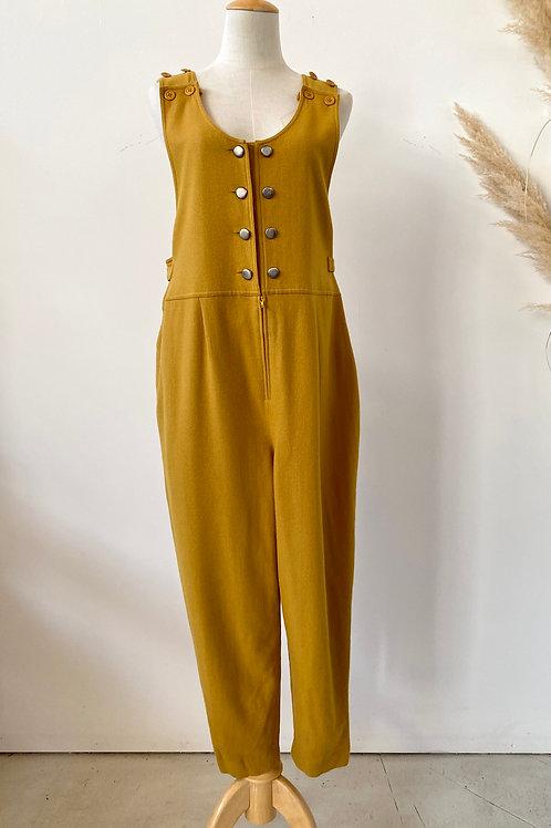 90s no sleeve wool jumpsuit