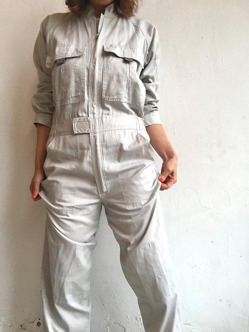 white cotton utility jumpsuits