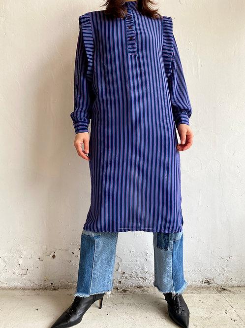 shoulder design striped dress
