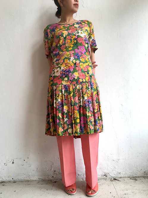 drop waist floral midi dress