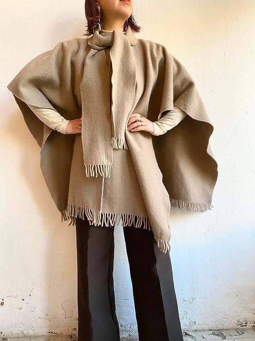 70s wool cape coat