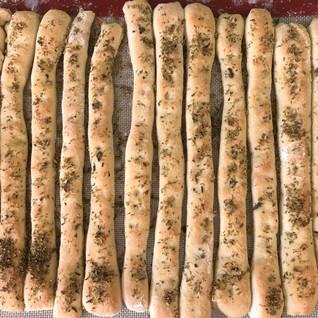 Herby handmade breadsticks