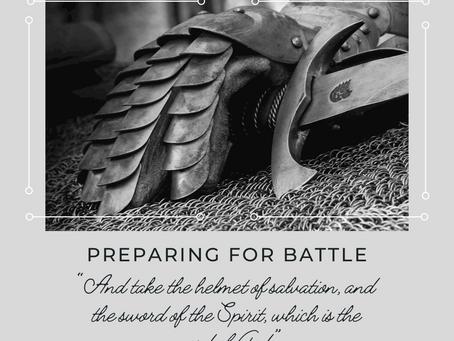 Preparing for Battle Part 4 (Helmet and Sword)