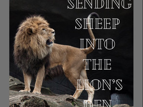 No fear.  Sending sheep to comfort the Lions.
