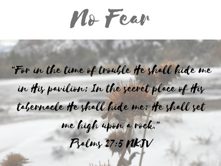 Am I Seeking God When I AM Afraid? (No Fear Part 2)