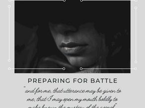 Preparing for Battle Part 6 (Speak Faith)