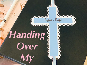 How do I hand over my burdens to God?