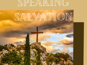 Speaking Salvation. (Standing up to the crowd)