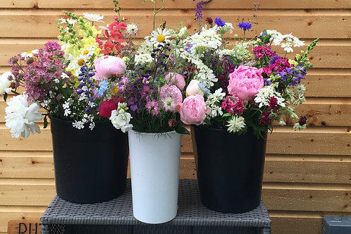 DIY flower arranger's bucket
