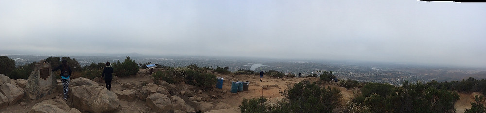 The top of Cowles Mountain, San Diego