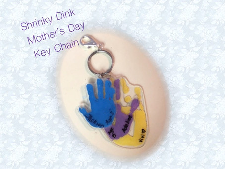 Handprint Keychains for Mother's Day