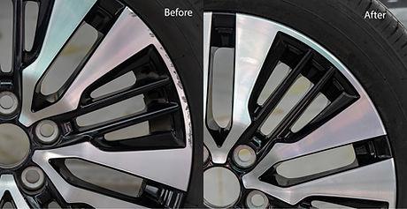 Repairing alloy wheels with metal shadow