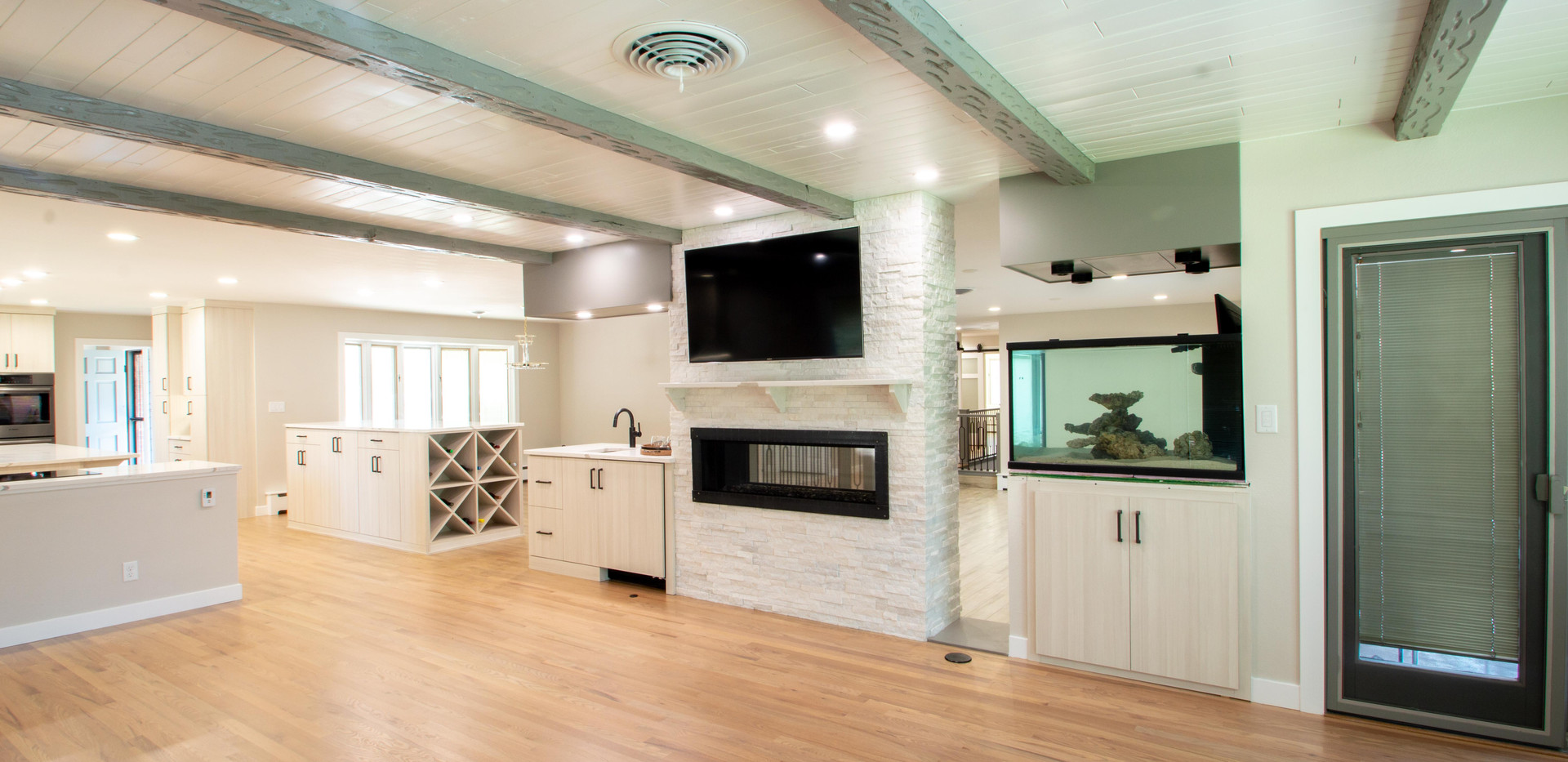 Fireplace and Fish Tank