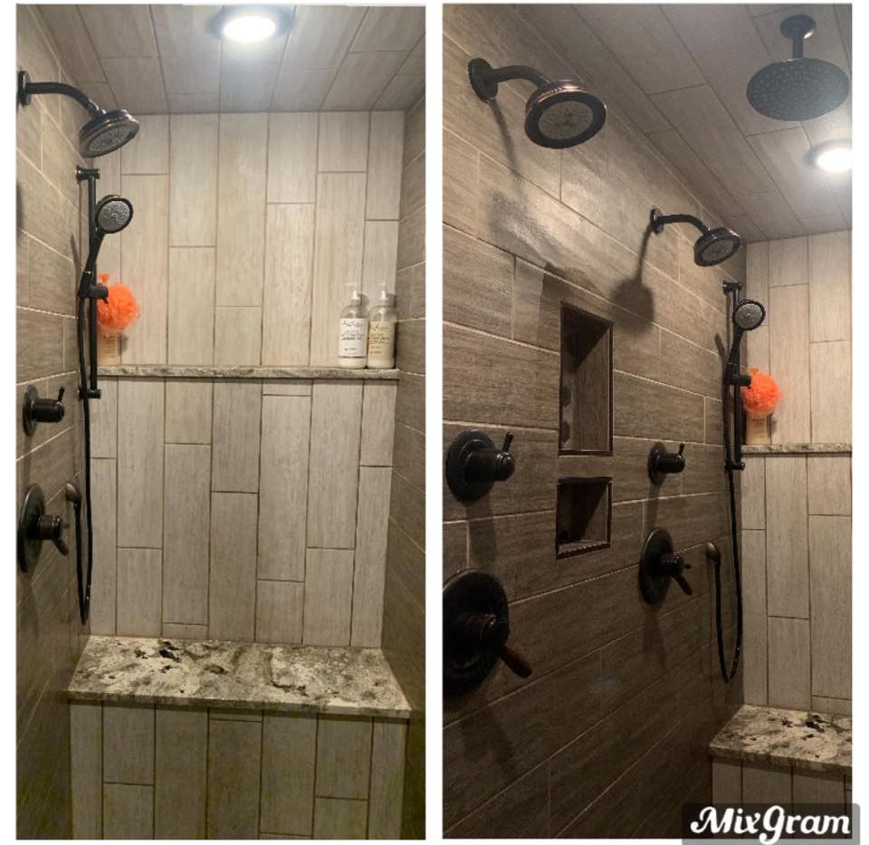 Large double luxury shower