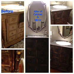 Bathroom Cabinet Transformation