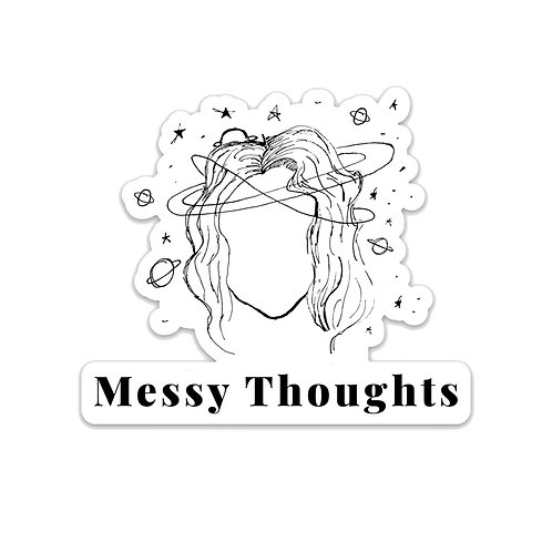 Messy Thoughts Sticker