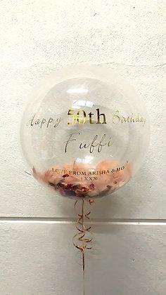 Clear stuffed Bubble Balloon - Standard