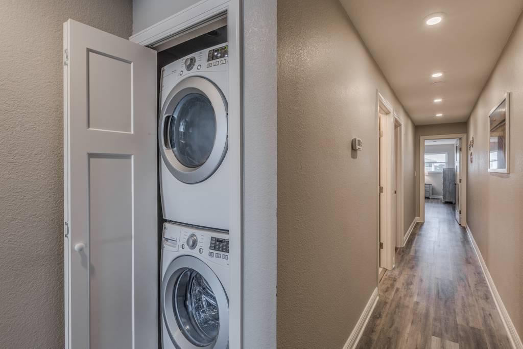 Washer & Dryer in the Hallway