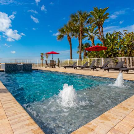 Resort Style Pool Hot Tub