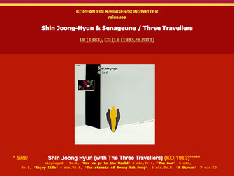신중현 세나그네 / 신중현과 세 나그네 - Shin Jung-Hyun & Senageune / Three Travelers (Wanderers) / Three Strange
